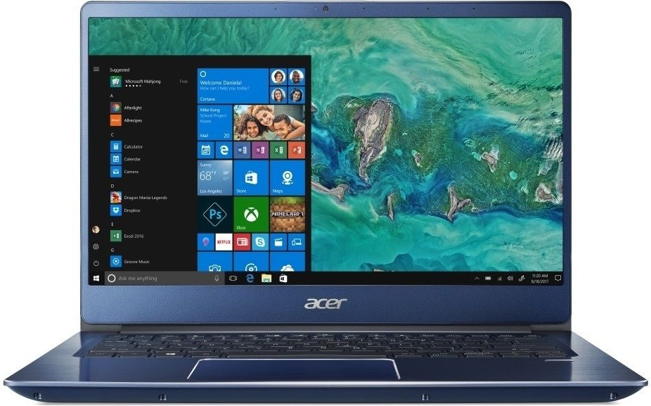 Ноутбук Acer Swift 3 SF314-54-55A6 (NX.GYGER.002) СинийНоутбуки<br>14(1920x1080)IPSi5-8250U(1.6ГГц)8Гб256Gb SSDHD Graphics 620нет DVD Linuxсиний