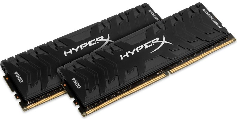 Оперативная память 16Gb DDR4 4133MHz Kingston HyperX Predator (HX441C19PB3K2/16) (2x8 KIT)Модули памяти<br>16Gb, DDR-4DIMM1.35v(HX441C19PB3K2/16)