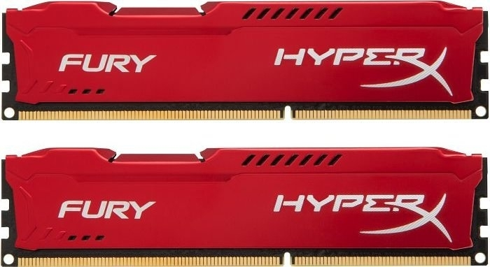 Оперативная память Kingston HyperX FURY Red 16GB DDR3 1600Mhz DIMM (HX316C10FRK2/16)Модули памяти<br>16Gb, DDR-3, 1600MhzDIMM1.5v(HX316C10FRK2/16)
