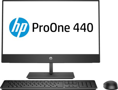Моноблок HP ProOne 440 G4 (4YV97ES)Моноблоки<br>23.8(1920x1080)i3-8100T(3.1Ghz)4Gb 500Gb HDD Intel® UHD Graphics 630 Win10ProЧерный