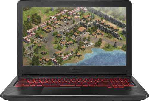 Ноутбук Asus TUF Gaming FX504GM-E4455 (90NR00Q3-M09910) ЧерныйНоутбуки<br>15.6(1920x1080)IPSi7-8750H(2.2ГГц)12Гб1Тб HDD128Gb SSDGeForce GTX 1050 2Гбнет DVD Без ОСЧерный
